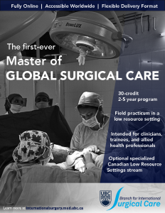 Master of Global Surgical Care – Applications Deadline June 19th