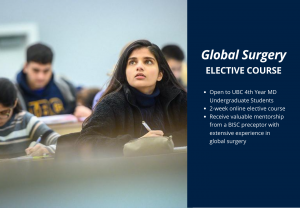 Global Surgery Elective – Available for UBC 4th Year MD Students