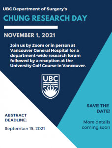 Chung Research Day – November 1, 2021
