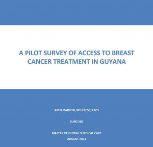 SURG 560 Final Report: A pilot survey of access to breast cancer treatment in Guyana